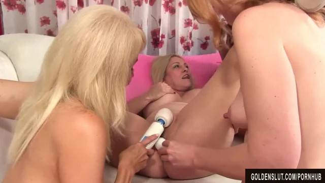 4 Mature Sluts please each other and Fuck 2 Guys