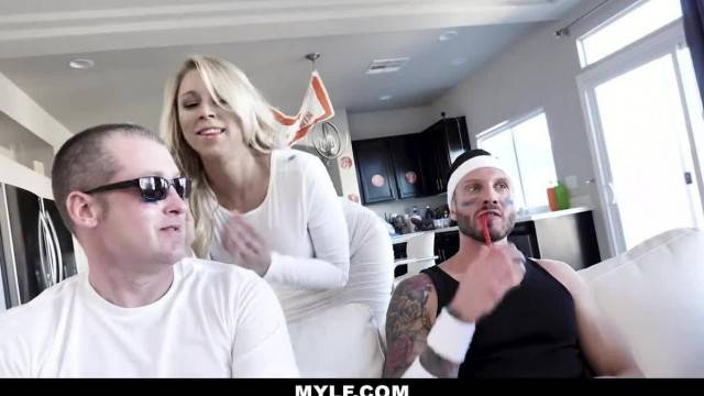 MYLF MILF Fucks Husbands Friend during Basketball Game