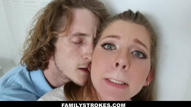 FamilyStrokes Nerdy Stepbro Seduced by Horny Sister