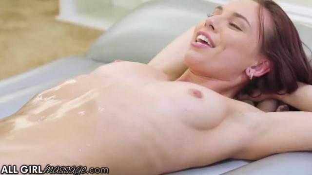 AllGirlMassage Aidra Fox Eliza Ibarra Body Slide with Nuru Gel