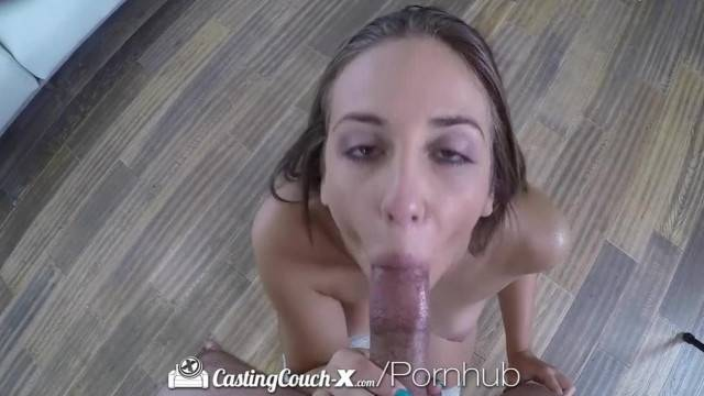 CASTINGCOUCH X another Naive Brunette Fucked by Casting Agent
