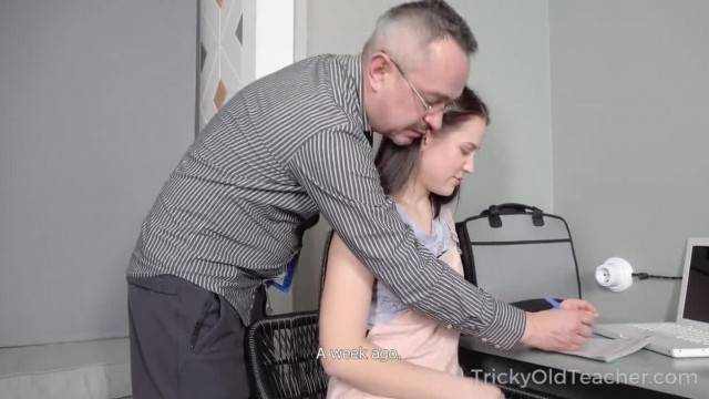 Tricky old Teacher Hottie Achieves her Goal with the help of Hard Sex
