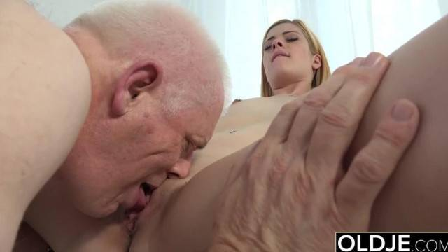 Nick Licks Young Pussy and Sticks his old Man Dick in Teen Mouth Blowjob