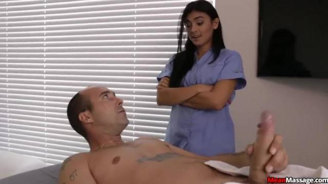 Horny Guys Cock becomes Hard Thick during Massage