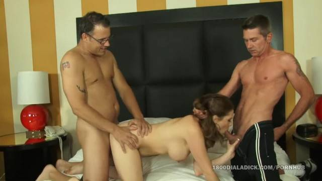 800DAD Allison Moore DP and Cucks her Cum Eating Hubby