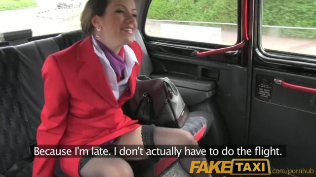 Faketaxi Sexy Brunette Middle Aged Women in Stocking and Suspenders