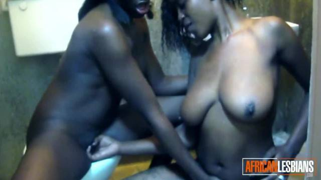African Lesbians get Hot and Frisky in Shower