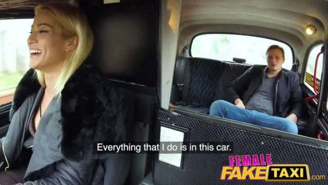 Female Fake Taxi Lucky Passenger Fucks Blondes Wet Pussy for Free Fare