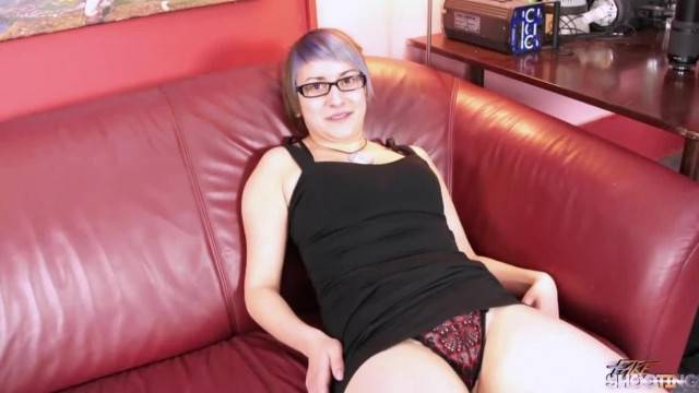 Glassed Chubby Teacher Loves to Ride Fake Agents Cock Wild