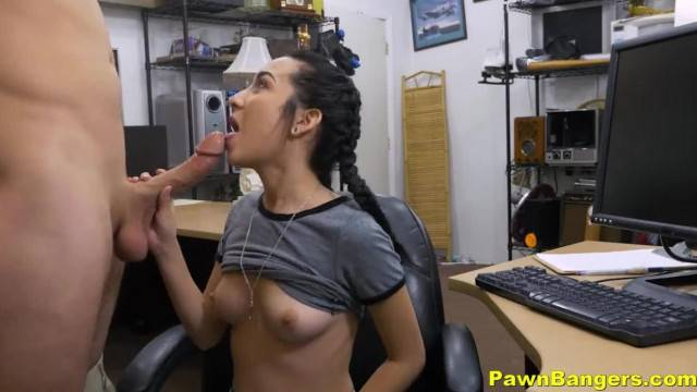 Shop Manager Fucks Hot Petite Brunette Teen Babe Kiley Jay