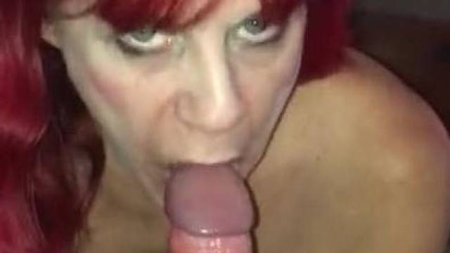 21 Yr old College Guy Cumming inside 51 Yr old Red Headed Hookers Mouth