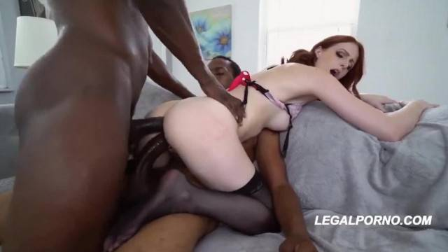 Alex Harper DP one Black one White two Anal Creampies Mix