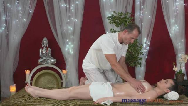 Massage Rooms Big Tits Teen Loves to Suck and Fuck before Orgasm