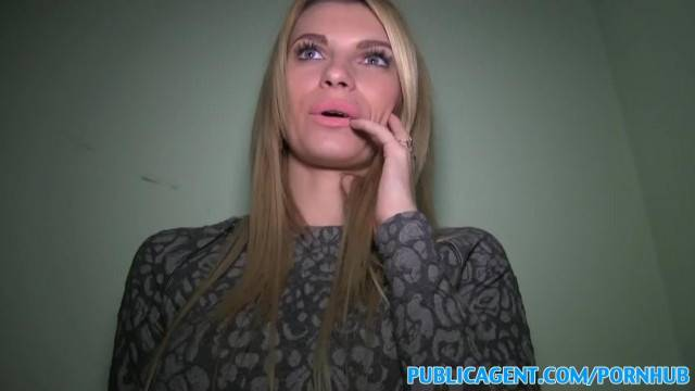 PublicAgent Tall Blonde Convinced to Fuck for Money