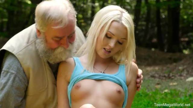 Old n Young Lovita Fate Mushroom Hunter Picks up Blonde Pussy