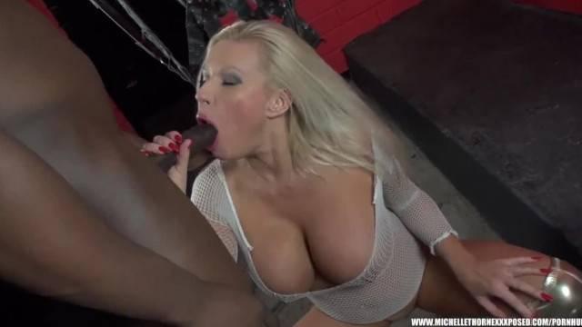 British Blonde Slut Michelle Thorne Sucks Tit Wanks Fucks Big Black Cock