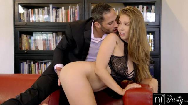 NF Busty Lena Paul Surprises her Boss at Home