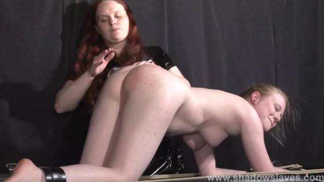 Satine Sparks Lesbian Foot Fetish and Hot Waxing BDSM of Blonde Submissive