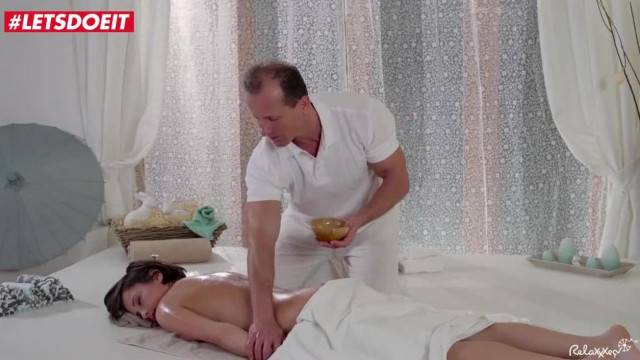 LETSDOEIT Sensual Oily MASSAGE and ANAL Spa Fuck for Euro Babe
