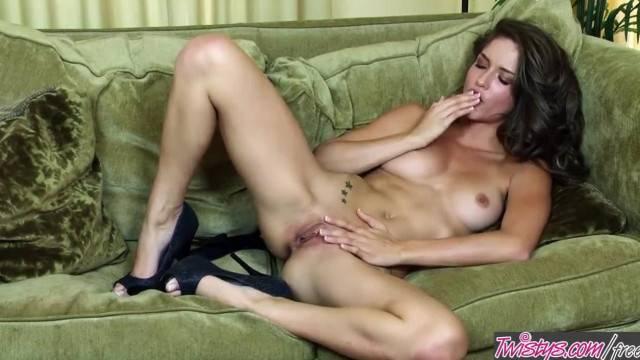Twistys Malena Morgan Rubs her too Hot Pussy