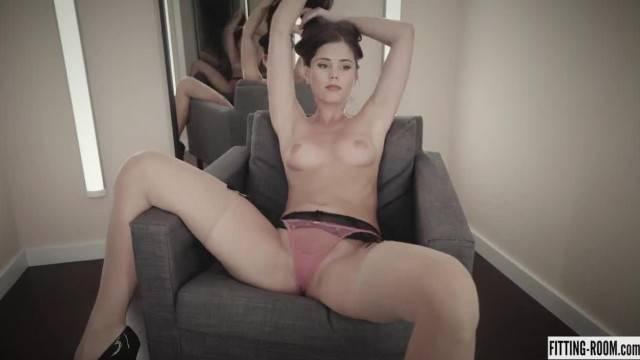 Horny little Caprice Masturbates Wearing Stockings and Panties