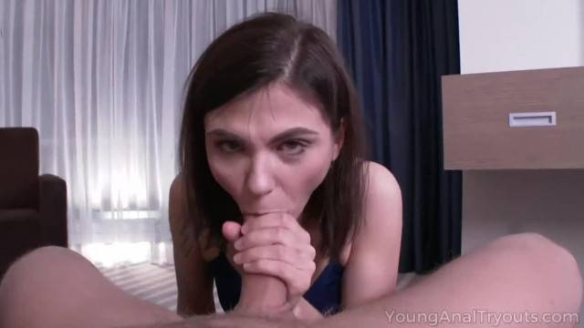 Young Anal Tryouts Chick gets Holes Stuffed with a Hard Cock