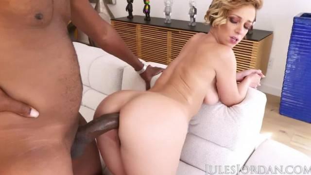 Jules Jordan Jada Stevens Big Booty is Ready for more Black in her ASS