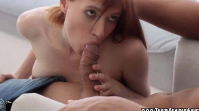 Teens Analyzed Redhead taking her first Anal