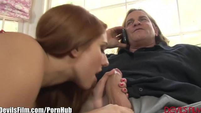 DevilsFilm Rose Red Anal Fucked by Dads Friend
