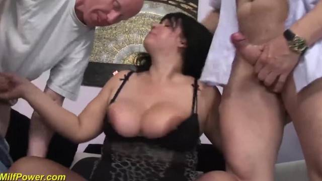 Busty BBW Moms first Double Penetration