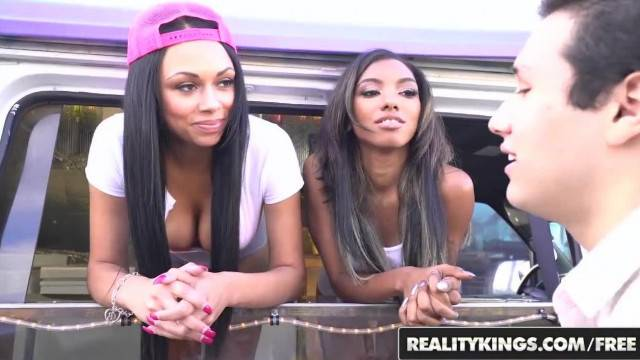 RealityKings two Ebony Teens Share some Cock