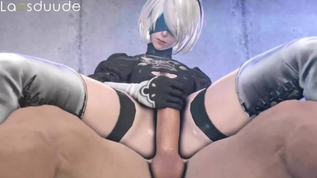 Nier Automata Horny Chick Filling all her Holes