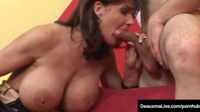 Big Busted Cougar Deauxma gets A Big Dick in her Asshole