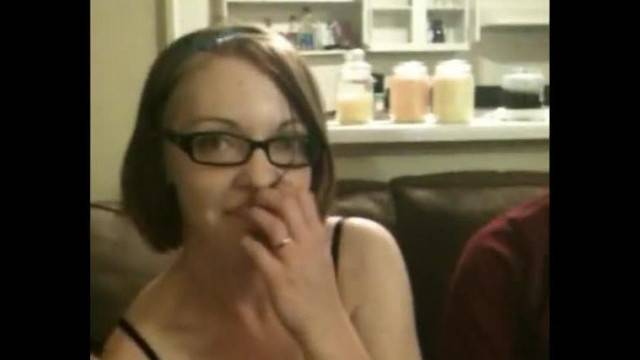 Sexy Nerdy GF in Glasses Blows Friend and Bf gets Double Facial