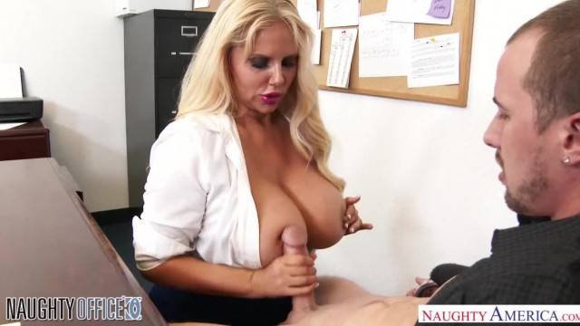 Big Tits Blonde Karen Fisher Bangs her Office Co worker Naughty America