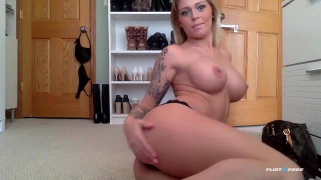 Gorgeous Blonde Fondles her Hard Body and Fingers her Wet Pussy