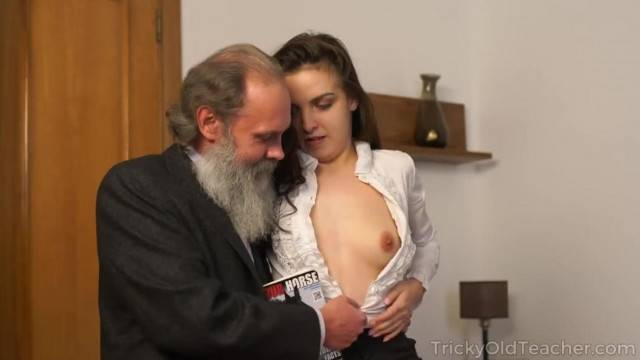 Tricky old Teacher Seduced by Beautiful Natural Boobs Teen Milana