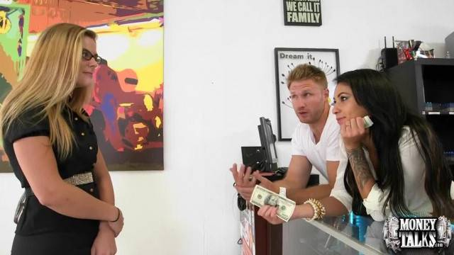 Money Talks Shy Teens Convinced To Fuck
