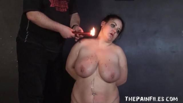 Amateur BDSM and Hot Wax Punishment of Mature BBW Slaveslut in Extremes