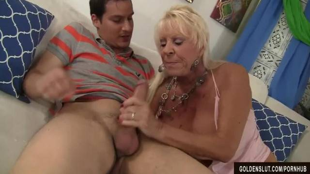 Granny Mandy McGraw Seduces Teen Boy with Big Dick