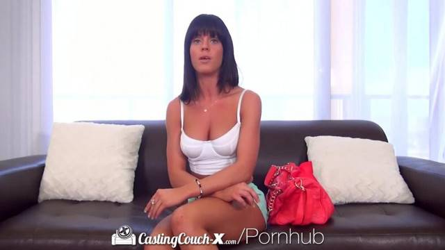 CastingCouch X Brunette Rahyndee James first Time Fuck on Camera