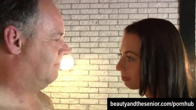Pierced Brunette Teen Leyla Takes an old Cock