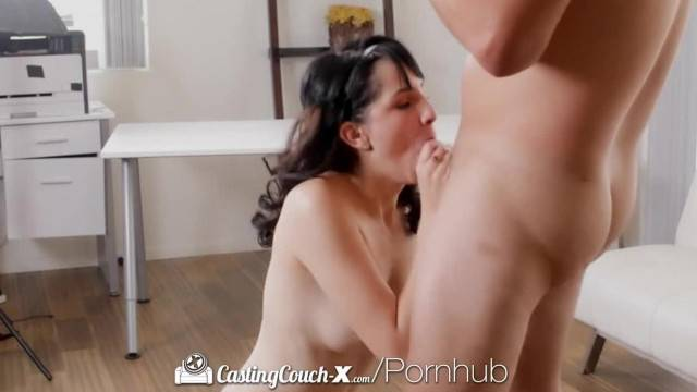 CastingCouch X Brunette Allora Ashlyn Squirts for her Porn Audition
