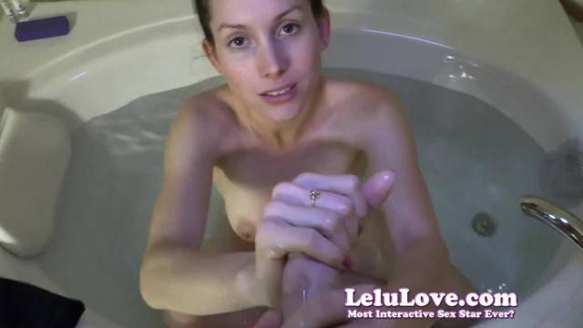 Lelu Love POV Bathtub Blowjob Cumshot on Tits