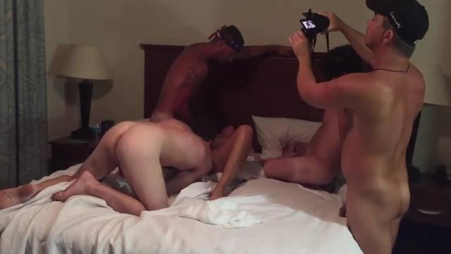 Hubby and Friends Gangbang Slut Wife