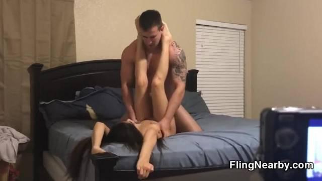 Hidden Camera Fucking this Bar Girl on my Bed