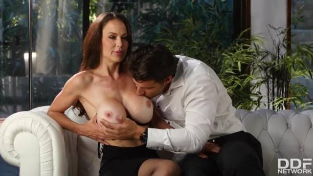 Young Guy Cant Resist that Busty MILFs Desires