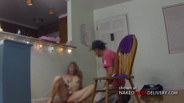 Latino Guy Jerking off in Front of Hot Blonde