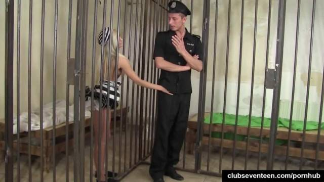 Busty Teen Prisoner takes Guard Huge Dick