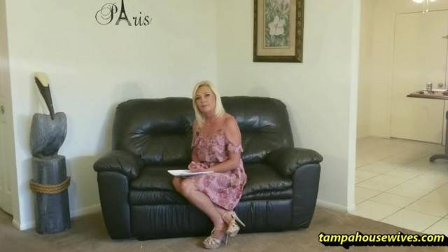Job Interview Turns into Mature Seduction and Masturbation with Blonde Lady